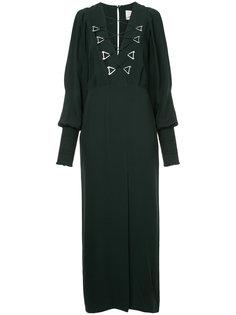 вечернее платье в стиле блузон Dion Lee