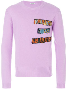 свитер с аппликацией Jamie Reid Valentino