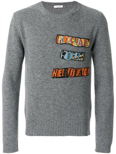 свитер с аппликацией Jamie Ried Valentino