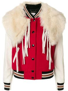 куртка с накладным воротником Coach