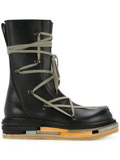 сапоги на платформе со шнуровкой Rick Owens