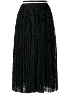 плиссированная кружевная юбка  MSGM