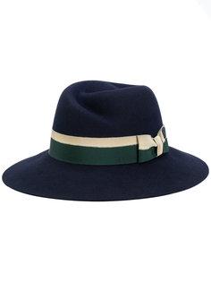 шляпа с полосатой лентой Maison Michel