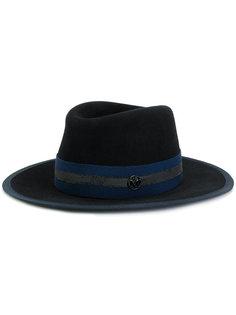 шляпа с контрастной лентой Maison Michel