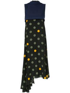 многослойное платье в горошек Marni