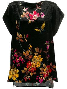 блузка с цветочным принтом и короткими рукавами  Pierre-Louis Mascia