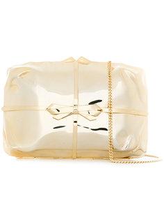 клатч с бантом в виде подарочной упаковки Benedetta Bruzziches