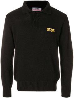 футболка-поло с вышитым логотипом Gcds