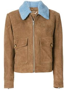 укороченное пальто с контрастным воротником Dondup