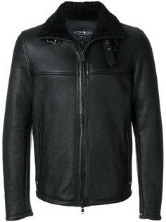 байкерская куртка из овечьей шерсти Hydrogen