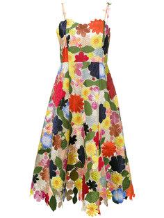 платье миди Hodges Podges с цветочным рисунком Rosie Assoulin