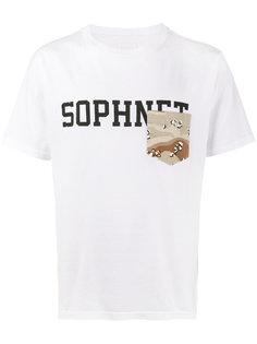 футболка с карманом и логотипом Sophnet.