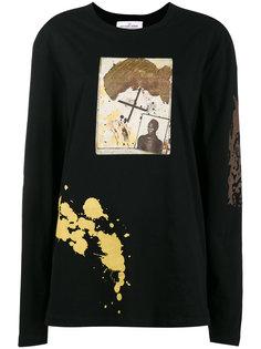 топ с длинными рукавами и принтом Rome Pays Off Notebook Jean-Michel Basquiat X Browns