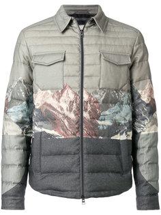 стеганое пальто с принтом гор Etro