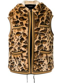жилет из искусственного меха с леопардовым узором Dolce & Gabbana