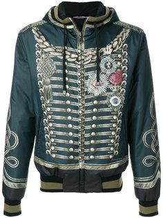 куртка-бомбер в стиле милитари Dolce & Gabbana