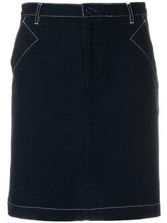 короткая приталенная юбка A.P.C.