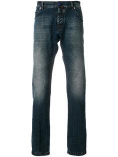 джинсы с потертой отделкой Kiton