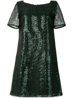 платье с квадратным вырезом и пайетками  Goat