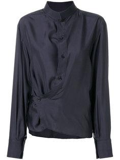 рубашка со смещенной застежкой на пуговицы Lemaire