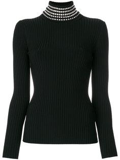 свитер с воротником с украшением из поделочных камней Alexander Wang