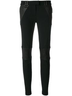 """брюки-""""скинни"""" с панельным дизайном Plein Sud"""