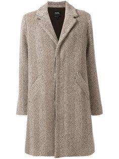 однобортное пальто  A.P.C.