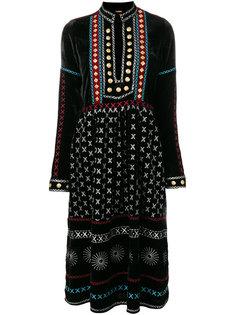 расклешенное платье с вышивкой  Dodo Bar Or