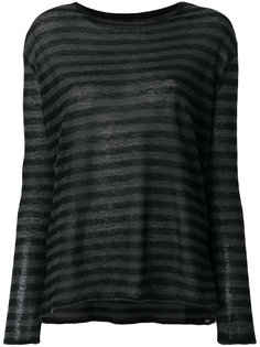 striped long sleeved T-shirt Majestic Filatures