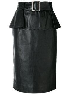юбка с ремнем на талии Mugler