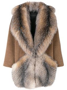 пальто с воротником шалькой  Blancha