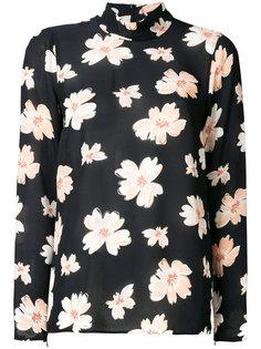 блузка с высокой горловиной с цветочным принтом Joseph