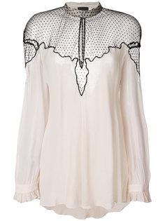 блузка с полупрозрачной вставкой  Just Cavalli