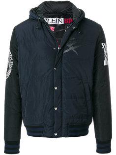 стеганая куртка с принтом-логотипом Plein Sport