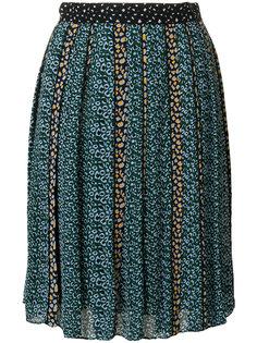 плиссированная юбка миди с цветочным принтом Proenza Schouler