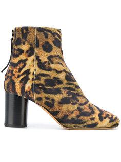 ботинки с леопардовым принтом Isabel Marant