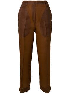укороченные брюки с высокой талией Christian Wijnants