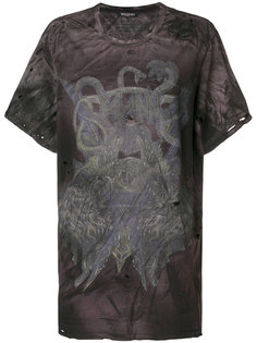 футболка с принтом змей с эффектом потертости Balmain