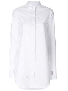 длинная приталенная рубашка  Thom Browne