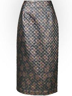стеганая юбка-миди Isa Arfen