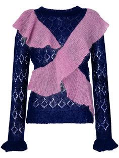 свитер с рюшами Manoush
