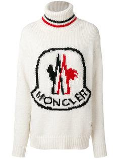 свитер с отворотом и логотипом  Moncler Gamme Rouge