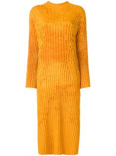 фактурное платье в рубчик  Pringle Of Scotland