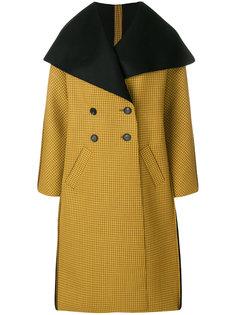 двубортное пальто в клетку Pringle Of Scotland