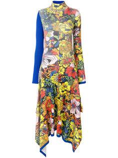 платье с цветочным принтом и асимметричным подолом  Pringle Of Scotland