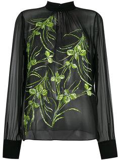 блузка с украшением из бусин Nº21