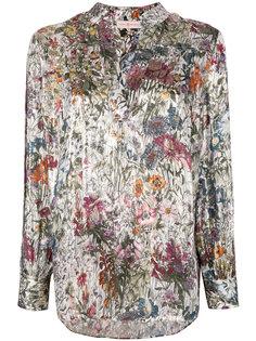 блузка с принтом и V-образным вырезом  Tory Burch