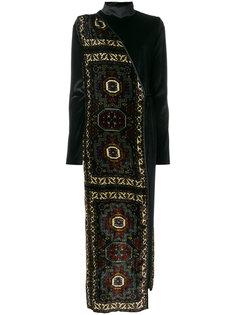 бархатное платье с узором  Act N°1
