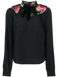 блузка с воротником с рюшами Manoush