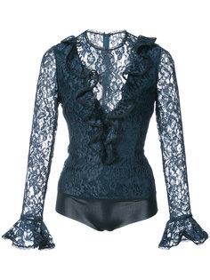 кружевная блузка с рюшами Alexis